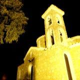 Greek orthodox church Protaras town Cyprus Stock Photos