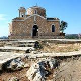 Greek orthodox church Protaras town Cyprus Royalty Free Stock Photography