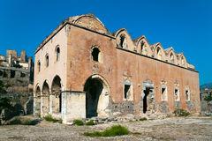 Greek Church ruins Stock Image