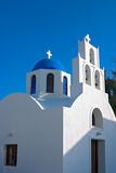 Greek orthodox church in Santorini, Greece Stock Photos