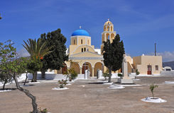 Greek orthodox church on Santorini Stock Photo