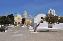 Greek orthodox church on Santorini Stock Images
