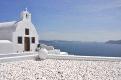 Greek orthodox church on Santorini Royalty Free Stock Images