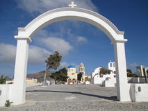 Greek Orthodox Church on Santorini Island Stock Photos
