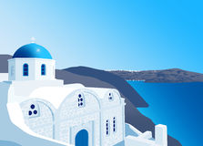 Greek Orthodox church at Santorini island Royalty Free Stock Photos