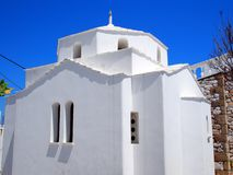 Greek Orthodox Church, Skyros Greek Island. A small white Greek Orthodox church on Skyros, a Sporades Greek Island, Greece, with a clear blue sky Stock Photography