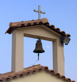 Greek Orthodox Church Steeple and Bell Royalty Free Stock Photography