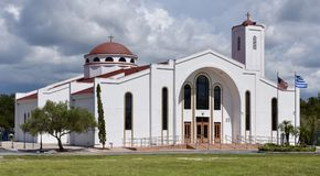 Greek Orthodox Church. This is a Summer picture of St. George Greek Orthodox Church located in New Port Richey, Pasco County. This picture was taken on July 9 royalty free stock photo