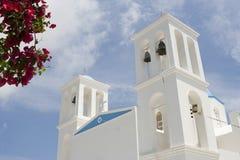 Greek orthodox church. Traditional greek orthodox church in Schinoussa island, Greece Royalty Free Stock Photography