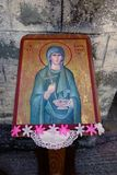 Greek Orthodox Icon Outside Church Royalty Free Stock Photo