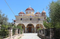 The Greek Orthodox Metropolitan church of Aegina, Saronic Islands, Greece Stock Images