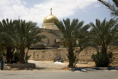 The Greek Orthodox monastery of Deir Hajla near Jericho Israel Royalty Free Stock Images