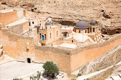 Greek Orthodox monastery in Judean desert. Palestine, Israel. Royalty Free Stock Photos