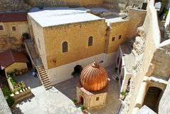 Greek Orthodox Monastery of Mar Saba (St. Sabas) i Royalty Free Stock Image