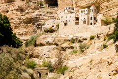 The Greek Orthodox Monastery of Saint George in Wadi Qelt, Israel Royalty Free Stock Photography