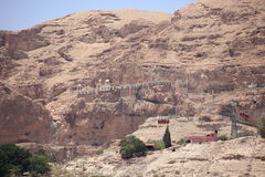 Greek Orthodox Monastery of the Temptation. The Greek Orthodox Monastery of the Temptation on the Mount of the Temptation in the Judaean Desert, near the town of Stock Images