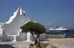 Greek Orthodox Paraportiani Church. Greek Orthodox Paraportiani Church was founded in 1425 year on Mykonos Island, Greece Stock Photography