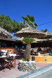 Greek outdoor taverna Royalty Free Stock Image