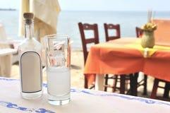 Greek ouzo stock photo