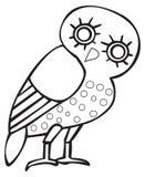 Greek owl sign, symbol Stock Photos