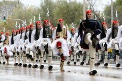 Greek parade Royalty Free Stock Photo