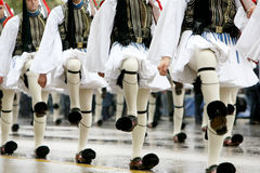 Greek parade. THESSALONIKI, GREECE - OCTOBER 28: On 28th of each October a parade is held for the anniversary of Greek rejection over Italian dictator on October Stock Photo