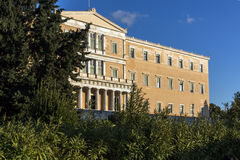 The Greek parliament in Athens, Greece. The Greek parliament in Athens, Attica, Greece Stock Images