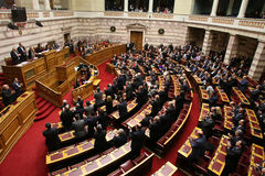 Greek parliament session Royalty Free Stock Photo