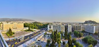 The Greek Parliament on Syntagma Square in Athens Royalty Free Stock Photography