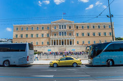 Greek parliament on  syntagma square Royalty Free Stock Image