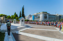 Greek parliament on  syntagma square Stock Photos