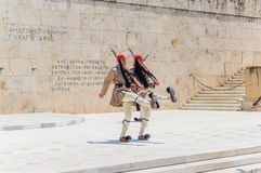 Greek parliament on  syntagma square Royalty Free Stock Photos