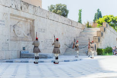 Greek parliament on  syntagma square Stock Photos