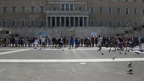 Greek parliament on  syntagma square stock video footage
