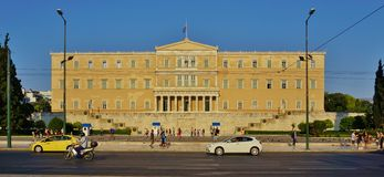 The Greek Parliament on Syntagma Square Royalty Free Stock Images