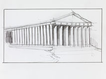 Greek parthenon temple Royalty Free Stock Photography