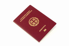 Greek passport Stock Photography
