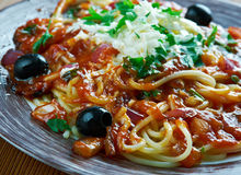 Greek pasta . Royalty Free Stock Images