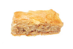 Greek pastry. Baklava isolated on white Stock Images