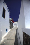 Greek path. Widing through the streets of Oia Santorini Stock Images