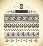 Greek patterns. Different types of seamless Greek patterns Royalty Free Stock Image
