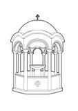 Greek phial design. Vector illustration of a religious element, file EPS 10 Royalty Free Illustration