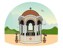Greek phial. Vector illustration of a religious element, file EPS 8 Royalty Free Illustration