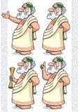 Greek Philosopher stock illustration