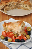 Greek pie with feta Stock Photo
