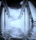 Greek pillars Stock Image