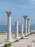 Greek pillars royalty free stock photo