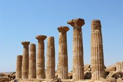 Greek pillars Stock Photos