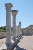 Greek pillars in ruins Stock Image