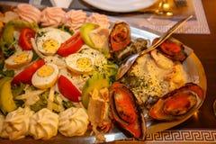Greek platter. Royalty Free Stock Photos